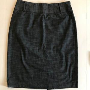 RAFAELLA Denim Jean Skirt Dark Wash Slit 10